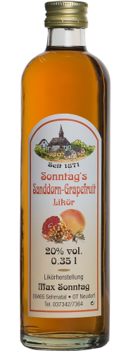 Sanddorn-Grapefruit-Likör 20% Vol.