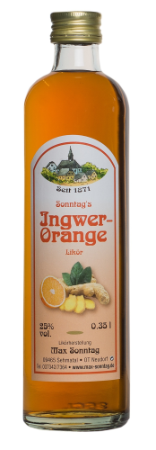 Ingwer-Orange-Likör 25% Vol.